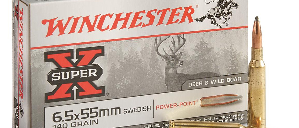 WINCHESTER 6.5 X 55 SWED 140GR POWER POINT (50)