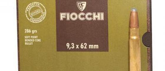 FIOCCHI 9.3x62mm MAUSER 286GR BONDED SP (20)