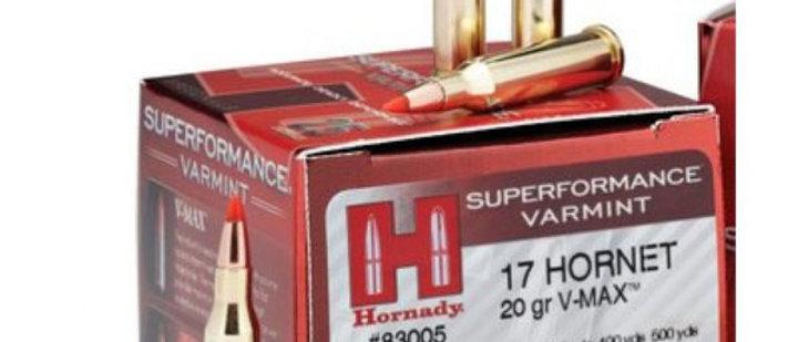 HORNADY 17 HORNET 20GR V-MAX SPF (25)