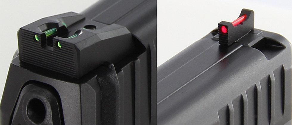 DP HK VP9 Fixed Carry Sight Set - Fibre Optic