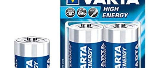HIGH ENERGY ALKALINE LR20 BLISTER X 2