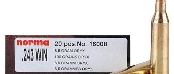 .243Win 100gr Oryx Norma Rifle Ammunition (20)