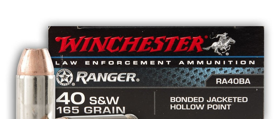WINCHESTER 40 S&W 165 GR JHP BONDED (50)