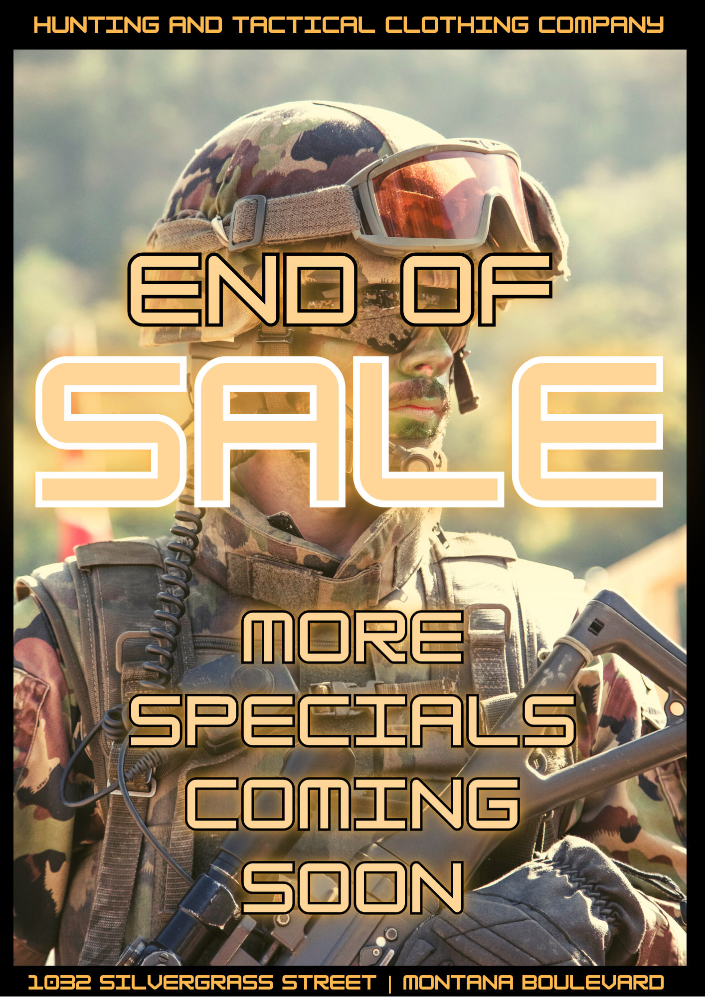 END OF SPRING SALE