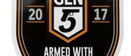 Glock 17 Gen5 Mini Fat-Head Wall Sticker