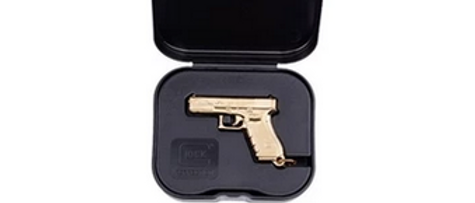 Glock Key Ring Pistol Gen4 Gold Plated w/Box