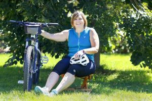 Rheumatoid Arthritis Won't Stop Evans Woman from Biking for Education