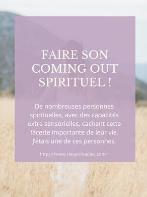 Faire son coming out spirituel !
