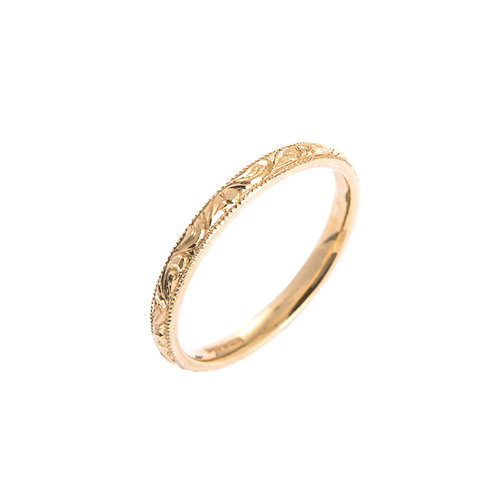 18ct Gold Engraved Ring