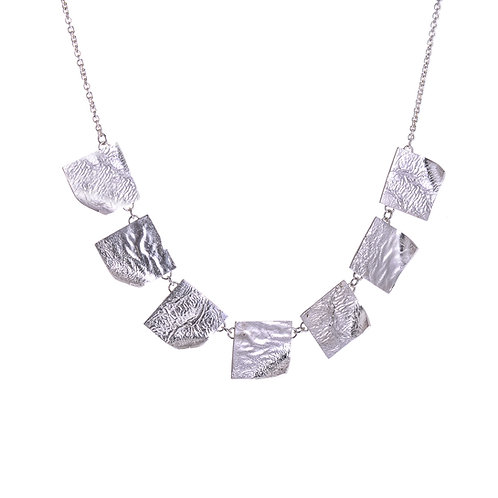 Moonscape Flicked Square Necklace