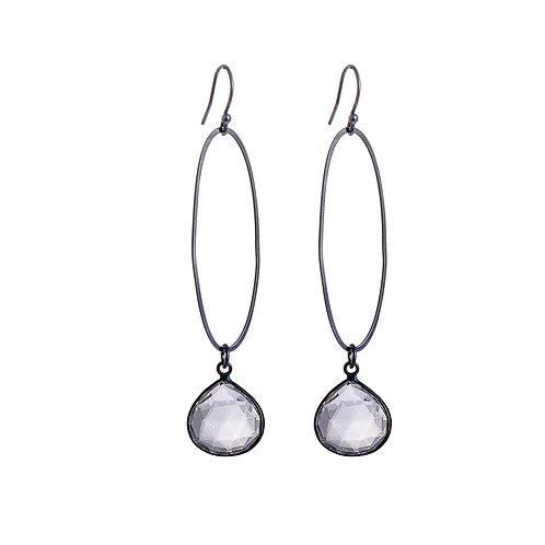 Oval Erosion Chalcedony Earrings