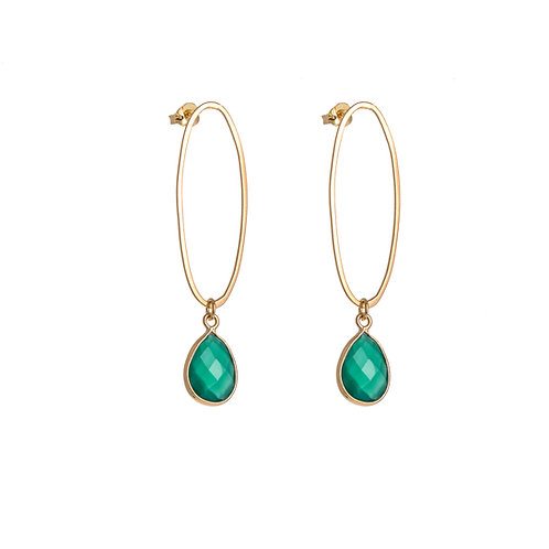 Oval Erosion Stud With Stone