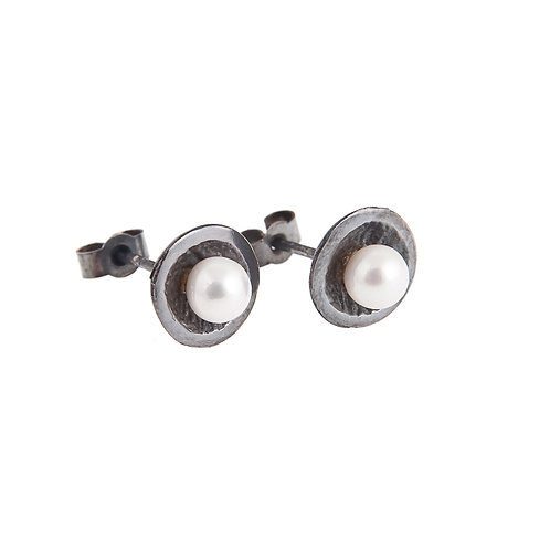 Anne Morgan Jewellery- Moondrop Small Studs with Pearls