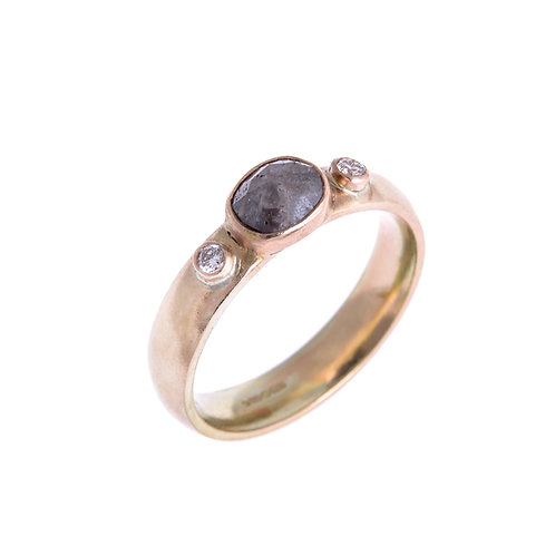 9ct Grey Diamond Ring