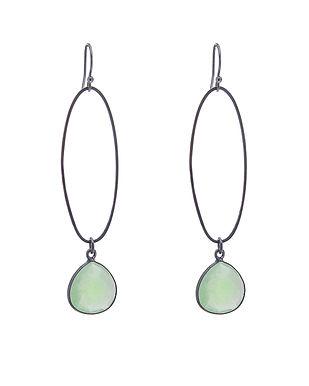 Oval_Erosion_Earrings_Green_chalcedony_o