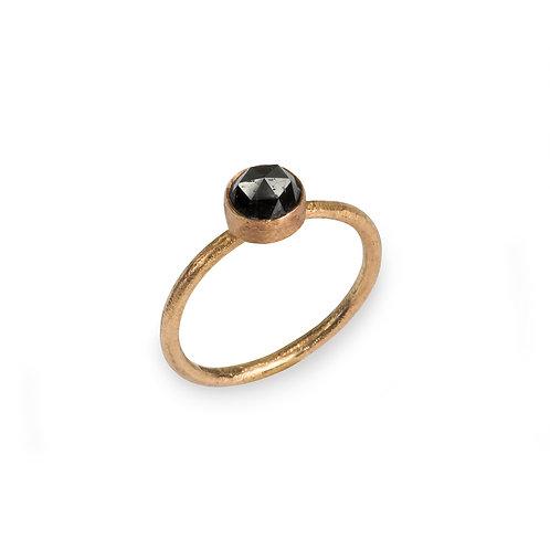 Moondust 9ct Rose Gold and Black Diamond Ring.