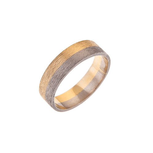 Moondust 18ct White and Yellow Gold Ring