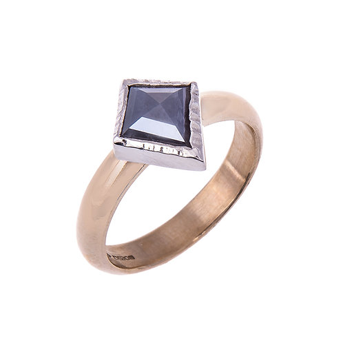 Grey Rose Cut Diamond Ring in 9ct Gold