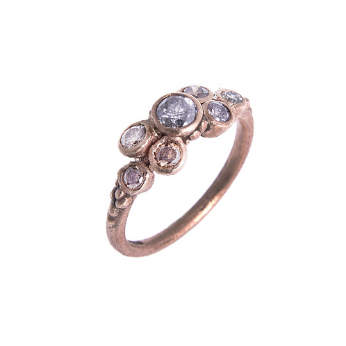 9ct Salt and Pepper Diamond Ring