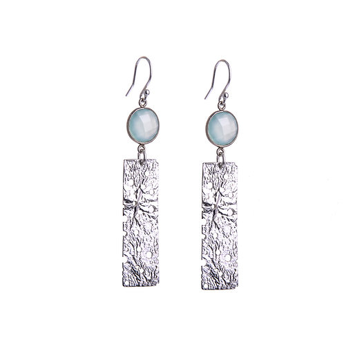 Moonscape Silver Earrings