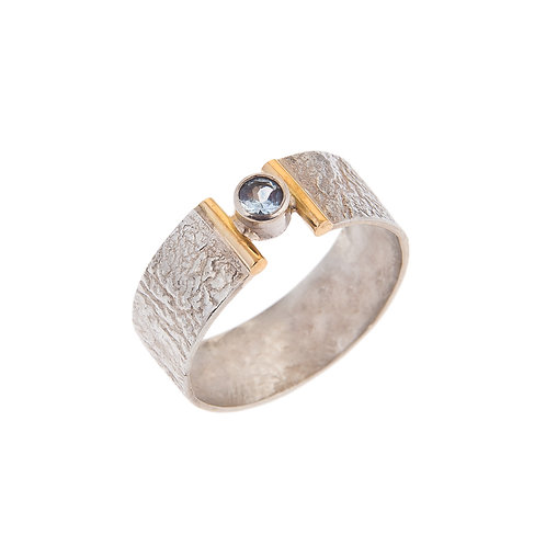 Hope Ring Silver and 18ct with Topaz