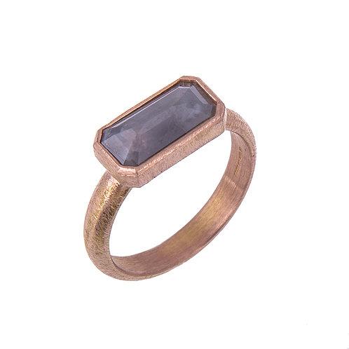 Grey Rose Cut Diamond Ring in 18ct Rose Gold Ring.