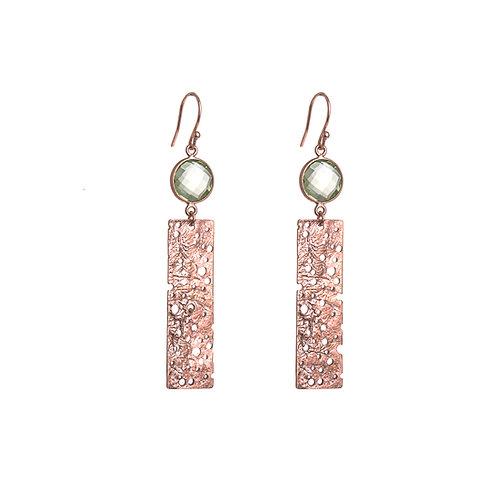 Erosion Rose Gold Plated Earrings