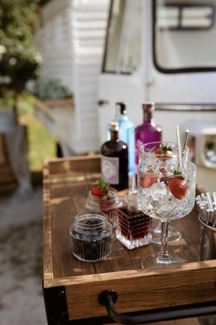 wedding gin set up
