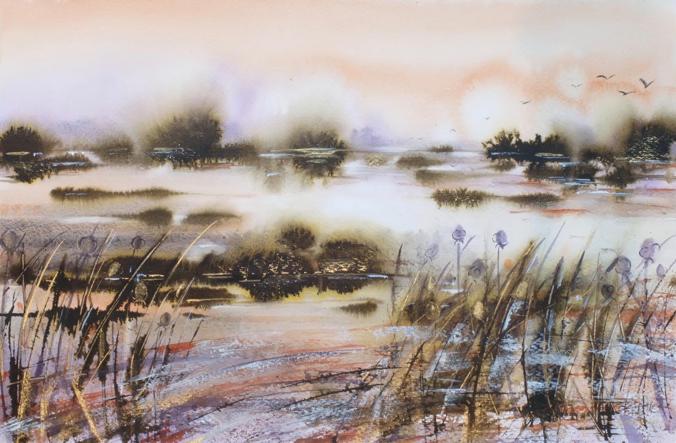 Sunset at Thrupp Lake