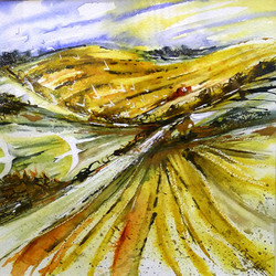 Wittenham Clumps - After the Harvest