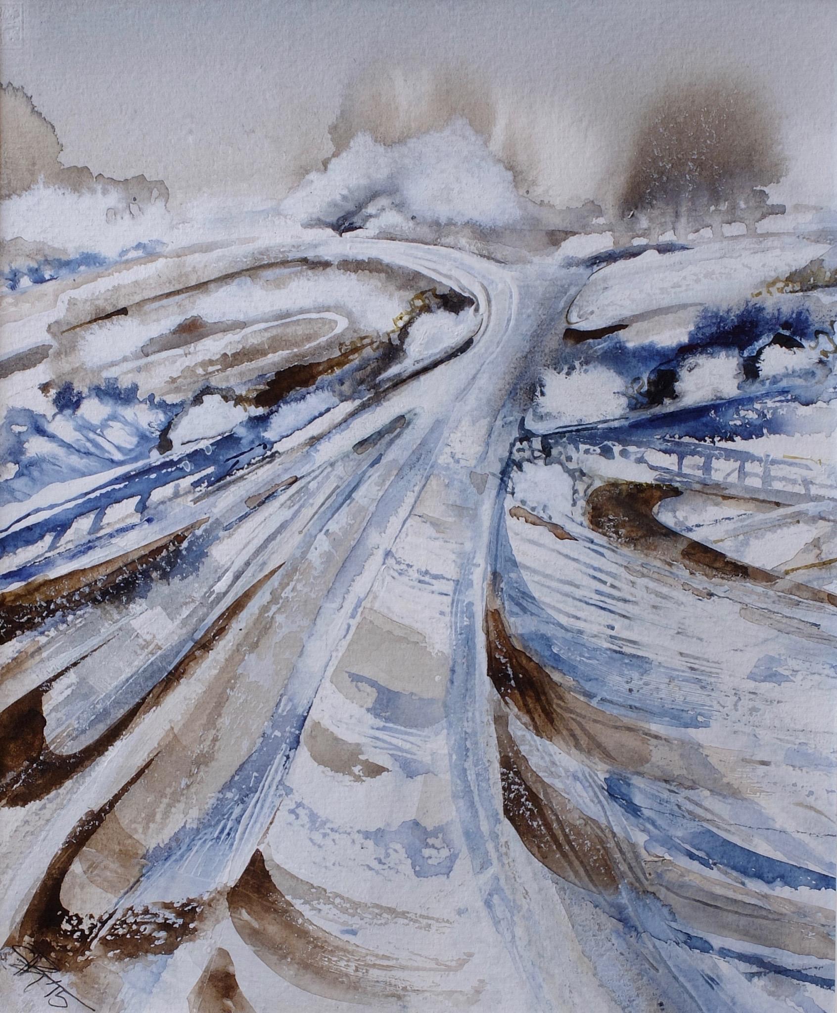 Winter Path to Wittenham Clumps