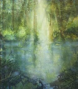 Spring Morning at the Newt Pond, Little Wittenham Woods