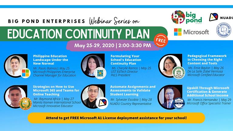Education Continuity Plan Webinar