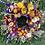 Thumbnail: Medium Full Moon Dried Flower Wreath