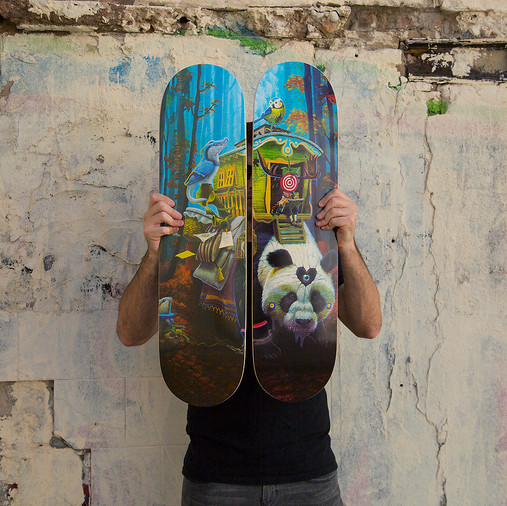 "Dulk with the diptych set "" Endless Caravan """