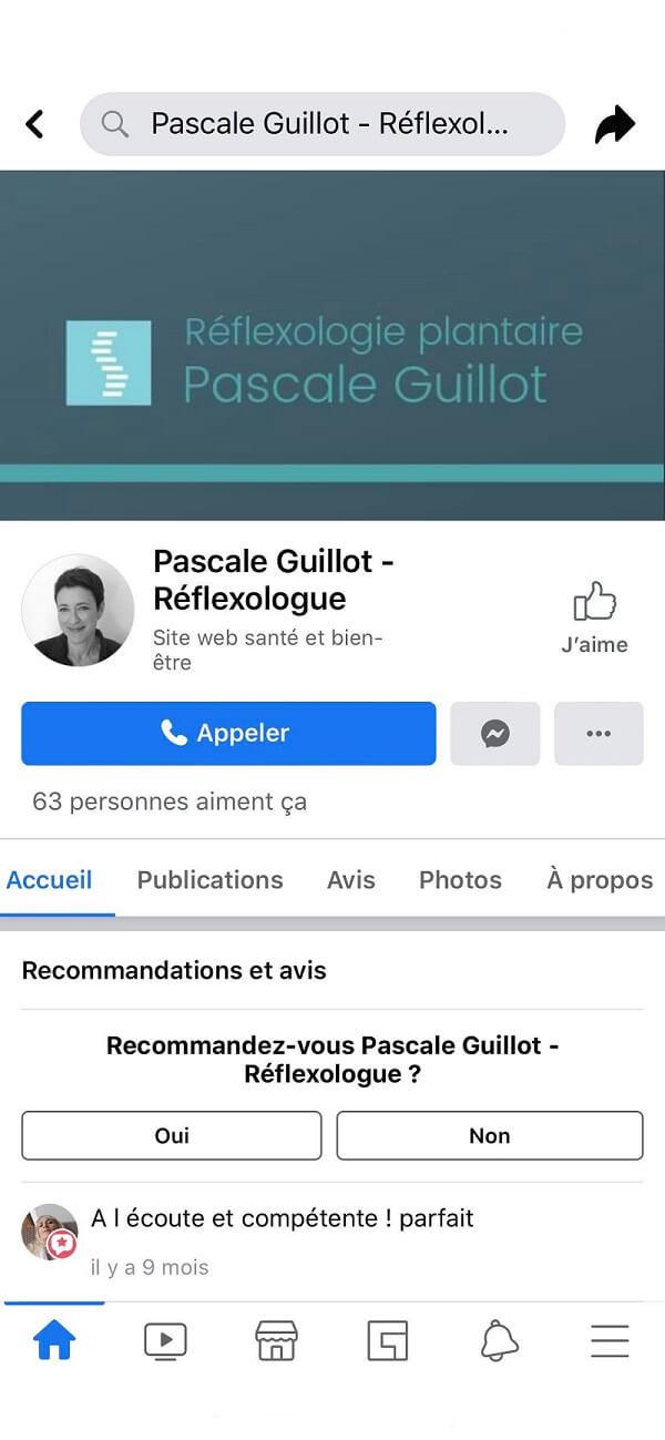 Réflexologie Aix Facebook | Pascale Guillot - Réflexologue | Réflexologie plantaire Aix en Provence | en cabinet, à domicile et en entreprise