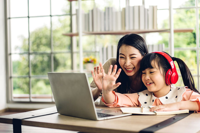 mother daughter virtual learning