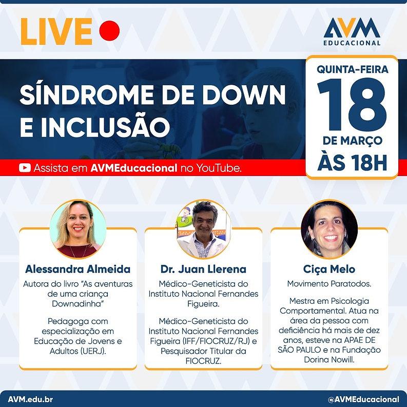 live sindrome de down e inclusao 18.03.2