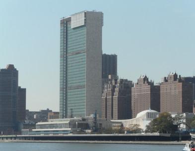 Roosevelt Island - ONU ao fundo