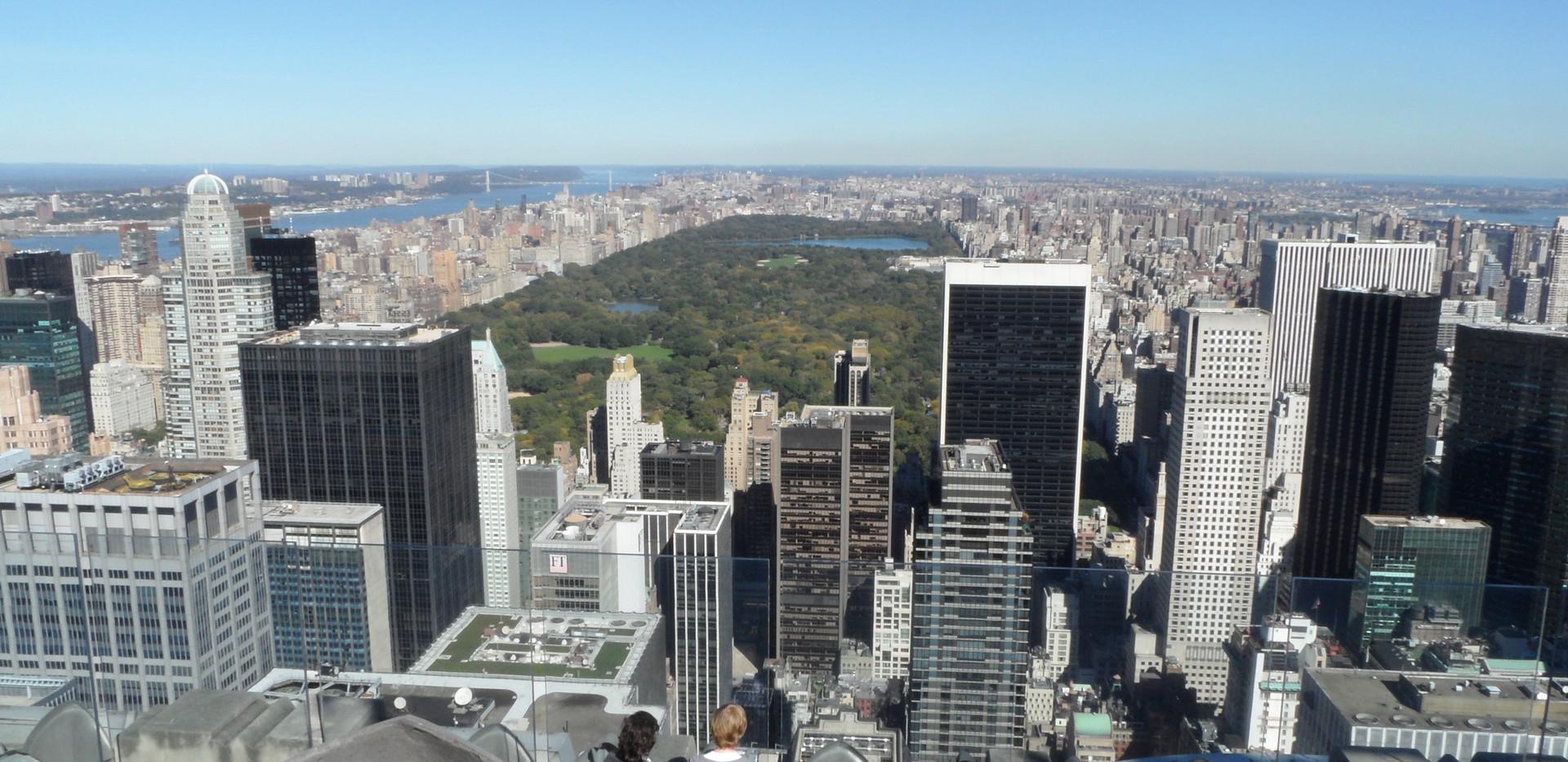 Top of the Rock - vista do Central Park