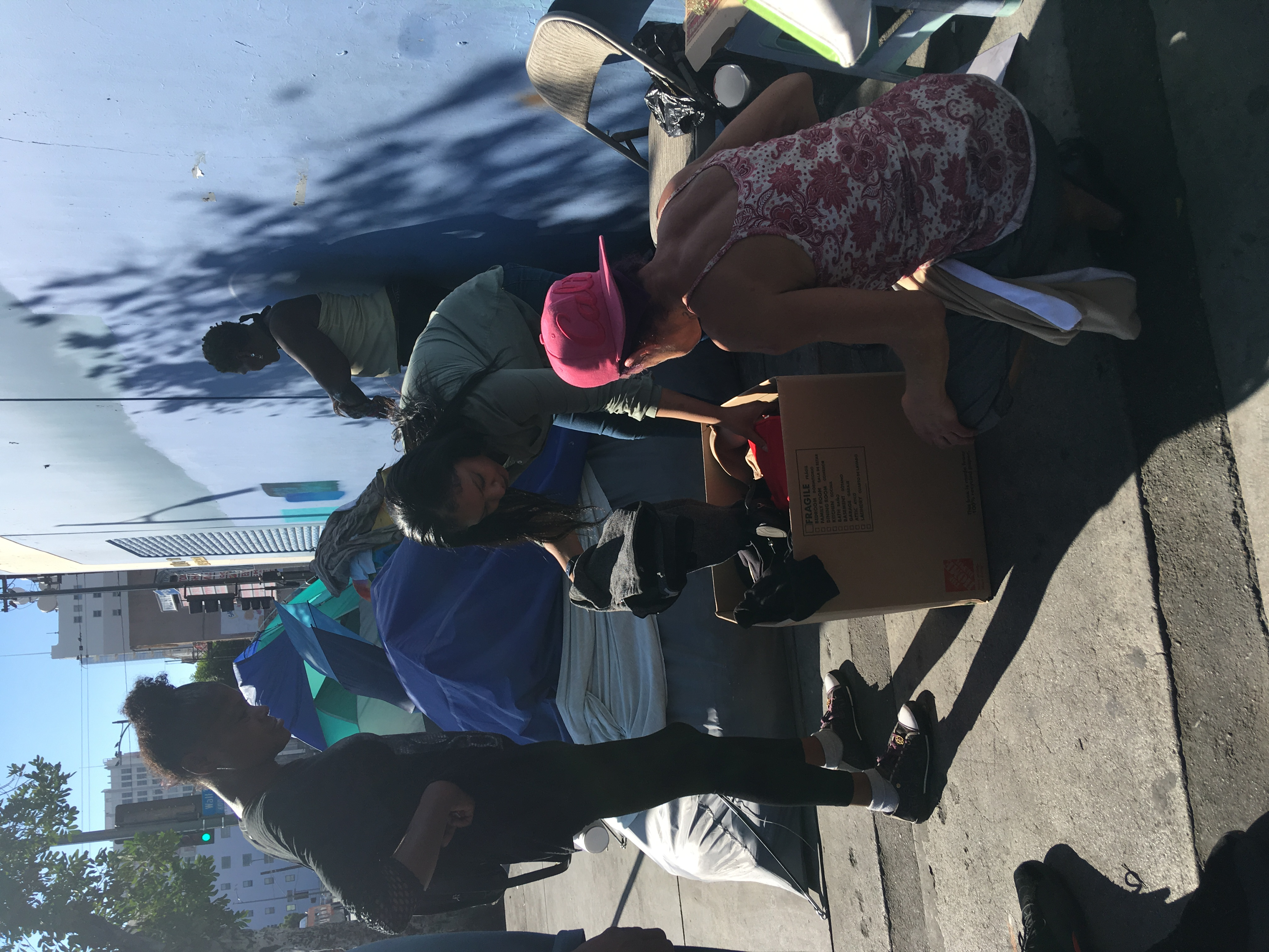Clothes Drive on Skidrow