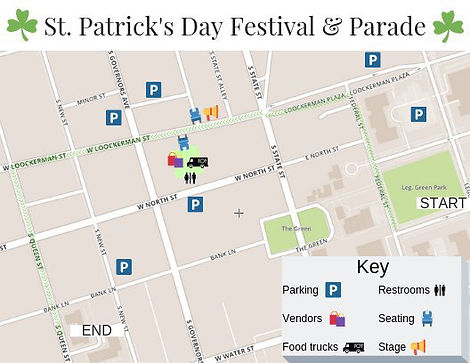 Dover St. Patrick's Parade LINE UP Info-