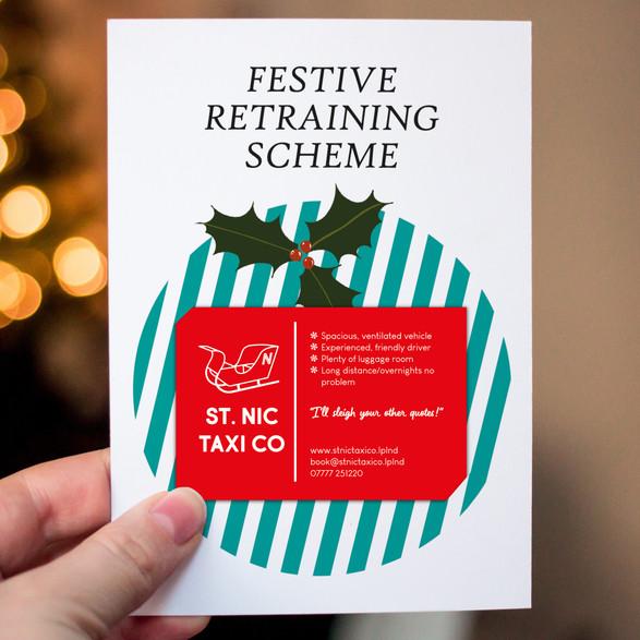 Festive Retraining Scheme Christmas Cards