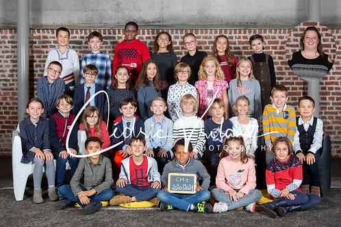 Photo classe + 2 Packs Portraits du même enfant +  les 4 portraits NUMERIQUES