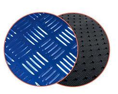 réf 88 tapis auto imitation alu bleu