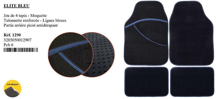 tapis de moquette elite bleu peraline ac