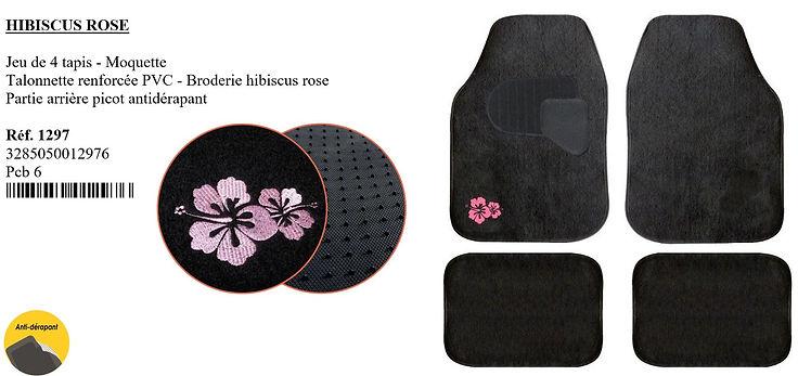 tapis moquette peraline hibiscus france