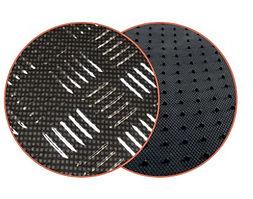 réf91 tapis automobile en pvc imitation en alu carbone