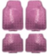 réf 90 4 pièces tapis pvc en alu rose