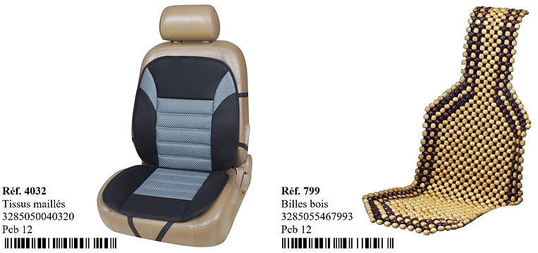 couvre siège peraline bois maillé